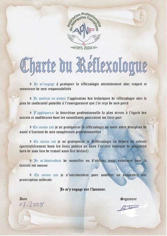 Charte du Réflexologue